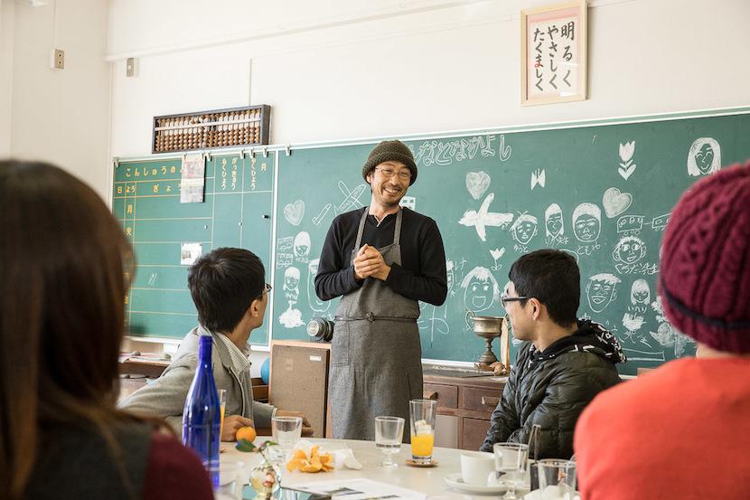 しまのテーブルごごしま代表 藤岡さんから、廃校でカフェを始めたきっかけなどを伺いました